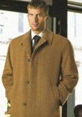 Ronald Luxurious high-quality Pure 90% Cashmere Blend half-length notch lapel Camel topcoat $490