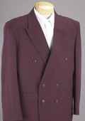 2pc MEN'S SHARP Double Breasted DRESS SUIT Burgundy ~ Maroon ~ Wine Color Suits $159