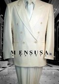 SKU#Y764GA 2pc MEN'S SHARP (IVory/Cream) Double Breasted DRESS SUIT Off White  Tuxedo With satin Lap