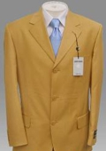 SKU# MU99 New Fresh Bright Gold Fashion Dress Men Discount Suits $99