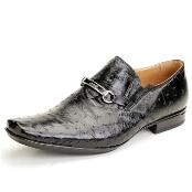 Black Genuine Ostrich $450