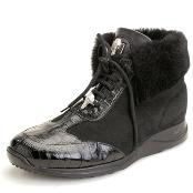 Black Genuine Ostrich &