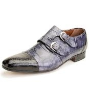 Black/Grey Genuine Alligator $650