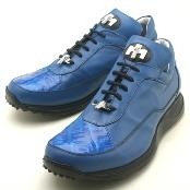 Brilliant Blue Genuine Crocodile