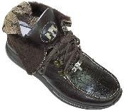 Brown Genuine Alligator With