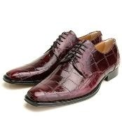 Burgundy Genuine Alligator $500