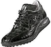 """Caiman"" Black Genuine Hornback"