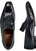 """Englishman"" Black Genuine Alligator/Calf"