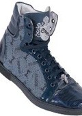 Navy Blue Genuine Alligator