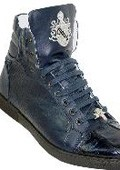 Navy Genuine Alligator And