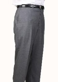 SKU#MC3956 Medium Charcoal Bond Flat Front Trouser $99