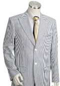 Mens 2pc 100% Cotton Seersucker Suits TaupeoffWhite $189