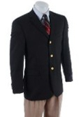 Solid Navy Blue 2-button