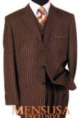 Mens 3 Piece Brown
