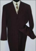 SKU# LZT99 Men's Black Jackson style Fashion Dress Long Zoot Suit $110