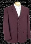 Mens Burgundy 4 Button
