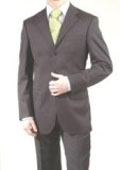 SKU#A63_3P Men's Charcoal Gray 3 Button Dress Business Suits On Sale $199