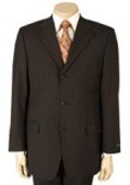 SKU#MU-99 Men's Dark Brown 100% Pure Wool. (SUPER 120) 2or3-button $99