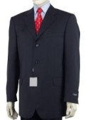 SKU# 89-L  Men's Dark Navy Blue Single Breasted Discount Cheap Dress 3 or 4 Button Suit $79