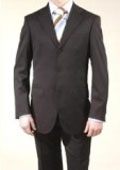 SKU#A63_3P Men's Liquid Black 3 Button Suits On Sale $149