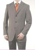 SKU#A63_3P Men's Midium Gray Light Gray 3 Buttons fully lined On Sale $149