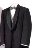 SKU# GB-W12 Mens Tuxedo Shawl Collor Super 120's Wool Suit + Shirt + Any Color Bow Tie $175