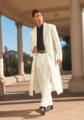 SKU# AM-G411 Men's Very Long Fashion Off White Zoot Suit $185