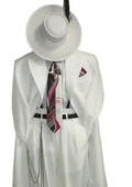 Mens White Fashion Zoot