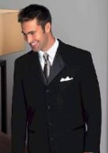 SKU# ZLT2 Mens 4-Button Notch Lapel Single Breasted Jacket $149