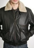 Aviator Leather Bomber Jacket