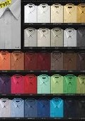 Mds3001U Men's Basic Normal 65%Poly 35%Cotton Dress Shirt in 34 Colors $29