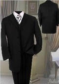 Black Fashion Suit 3PC