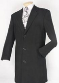 SKU#BN583 Men's Black Fully Lined Wool Blend Car Coat $149