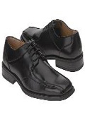Black oxford style cushioned