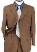 SKU#BM2936 Mens Brown Single Breasted Dress Suit $79
