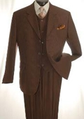 Brown Three Piece three