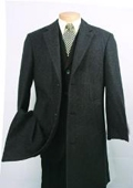 SKU#CK340 Men's Charcoal Fully Lined Wool Blend Car Coat $149