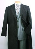 SKU#FM402 Men's Charcoal Fully Lined Wool Blend Top Coat $149