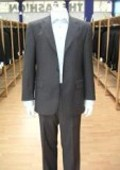 SKU#WBGI79 Men's Charcoal Gray Single Breasted Discount Cheap Dress 2or3or4 Button Suit $79