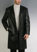 Classic Leather Walking Coat