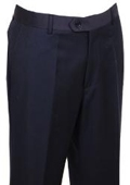 SKU#WK444 Mens Dress Pants Navy Non Pleated $89