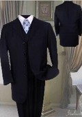 Fashion Navy Blue Suit