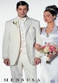 SKU# Mens Formal Ivory Off Wihte Cream 3 Button Notch Lapels Tuxedo Suits $199
