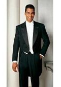 SKU#RB647 Men's Formal Tails - Peak Tailcoat Black $139