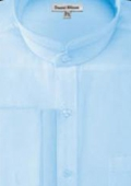Mens Banded Collar Dress Shirt