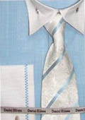 SKU#TU643 Men's French Cuff Dress Shirt Turquoise $65
