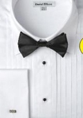 SKU#EM312 Men's French Cuff Tuxedo Shirt with Bow Tie $39