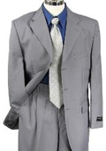 SKU#PZ80980 Mens Gray Single Breasted Dress Suit $79