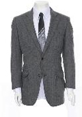 Grey Two-button Herringbone Sportcoat