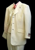 High Fashion Ivory Suit